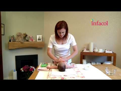 Colic baby massage - 'Scooping the sand massage technique' - YouTube