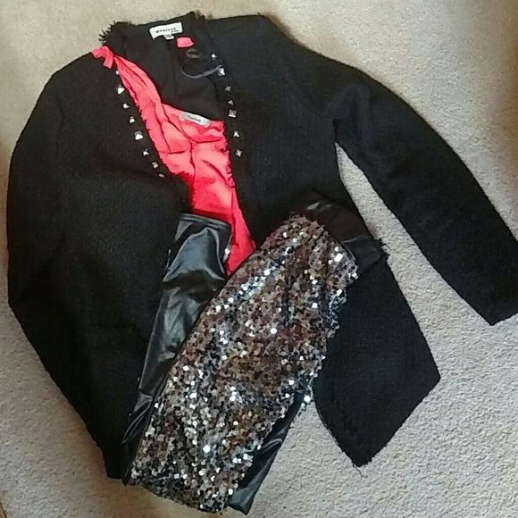 Very sparkly leggings Square sequins on front, plain back.  New!!  Jacket and tank for sale in my closet. Pants Leggings