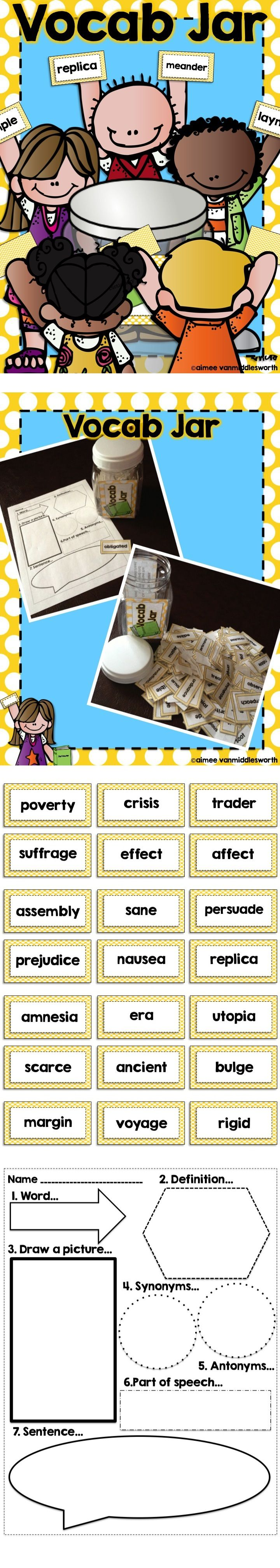 A great workstation, early finishers, or whole group activity to help students learn new vocabulary words.