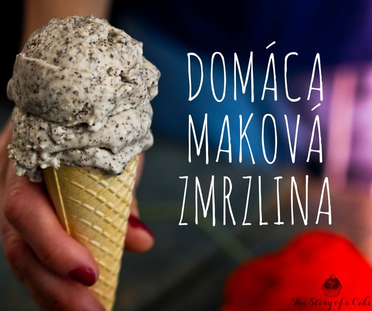 Domáca maková zmrzlina