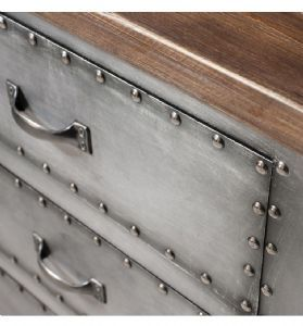Rivet Industrial Metal Sideboard