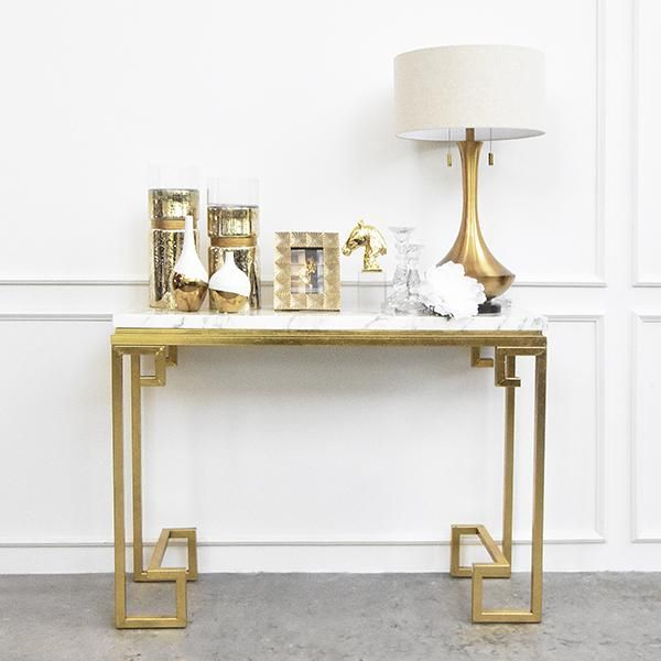 Galatea Marble Con Sole T Able Ivory Gold Marble Console Table Console Table Console Table Decorating