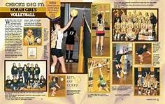 Yearbook spreads - Bing Images like the vertical nature of the layout since volleyball is a vertical sport