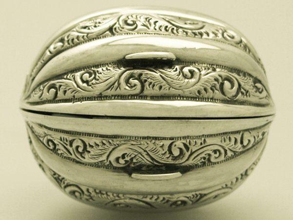 Sterling Silver Nutmeg Grater - Antique Victorian #HilliardThomason