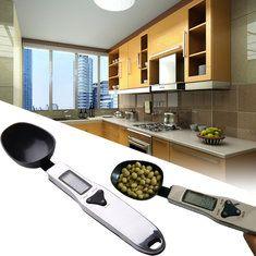 500g / 0.1g escala de medição colher LCD digital escala de medida de peso dos alimentos eletrônico