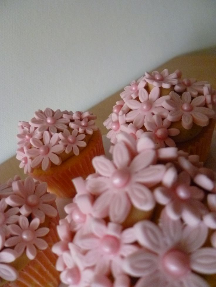 Cupcake met bloemetjes