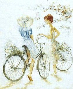 Lanarte 33788,Girls on Bicycle (Девушки на велосипедах)