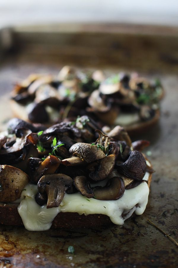 Triple Mushroom and Brie Melts ~ The ultimate grilled cheese!