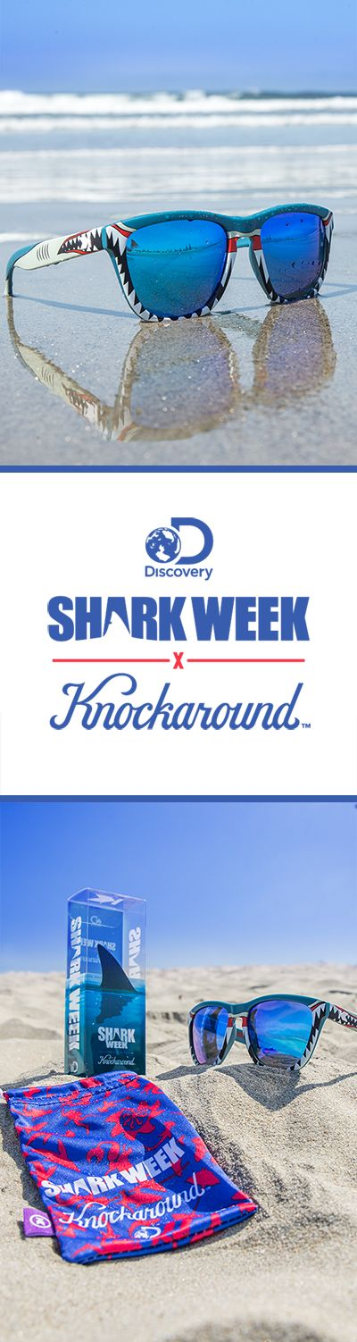 Available now: the official 2016 @discovery @sharkweek sunglasses! $5 from every pair sold will be donated to Oceana for their ongoing effort to protect the world's oceans. So jump in, the water's warm, and hurry over to Knockaround.com—for $30 these shades will sell out!