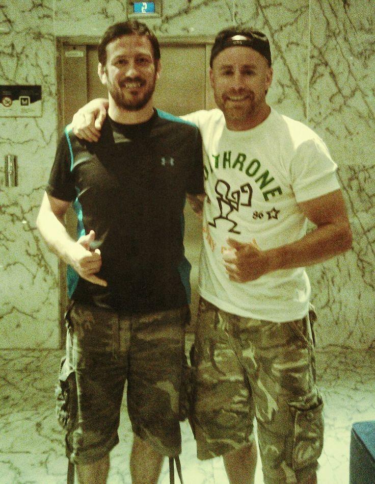 Pre-training pow wow with JK aka John Kavanagh of #sbgireland