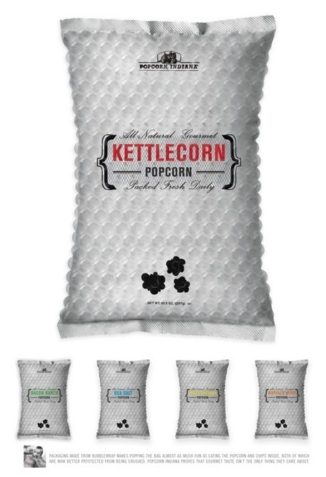 Oh yeah! Pop the bag as well as the Popcorn! Kettlecorn bubblewrap packaging