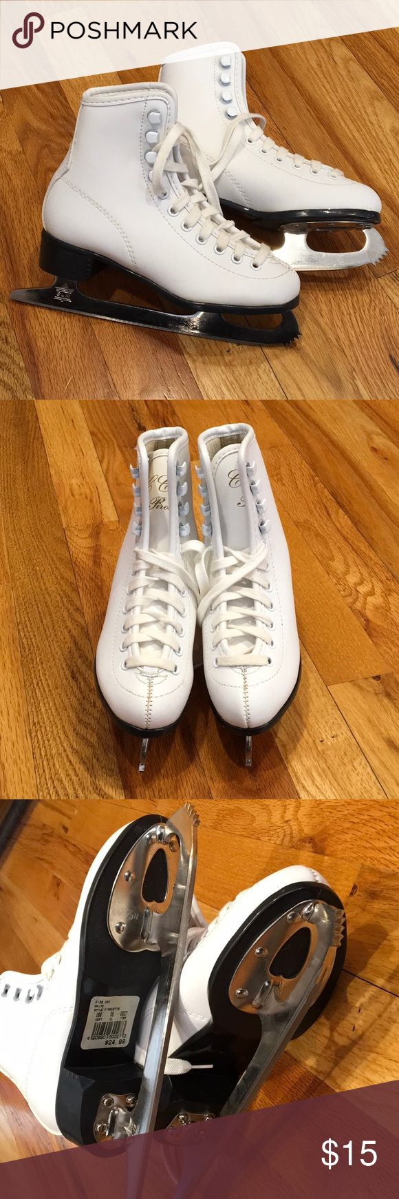 CCM Pirouette Ice Skates Size Youth 2. White man made material uppers. Never worn. CCM Other