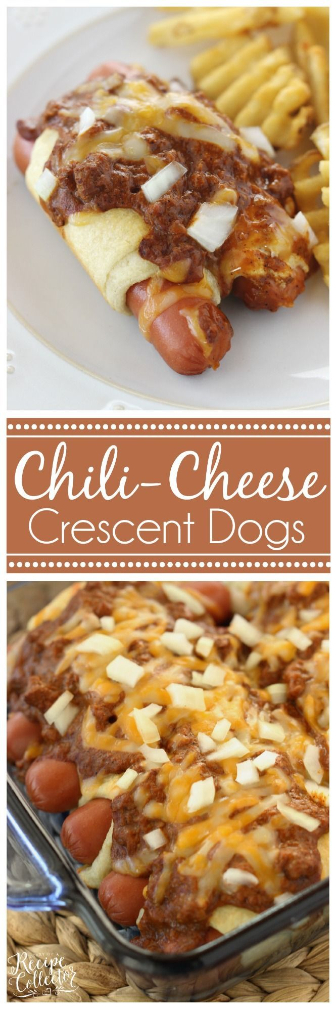 Chili Cheese Crescent Dogs - A super easy and very kid-friendly supper perfect for those busy weeknights!