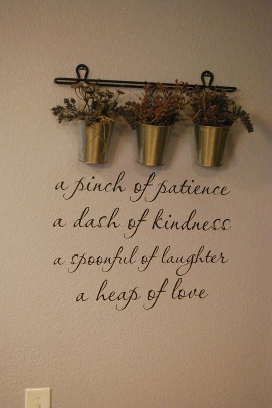 fun pharses for the kicthen wall | fun little sign to spruce up your kitchen! Makes me all warm and ...