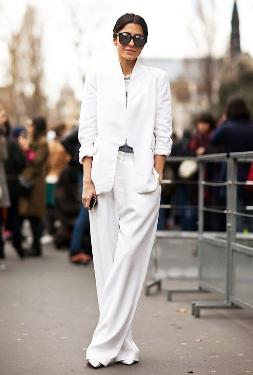 white suit / Think Runway