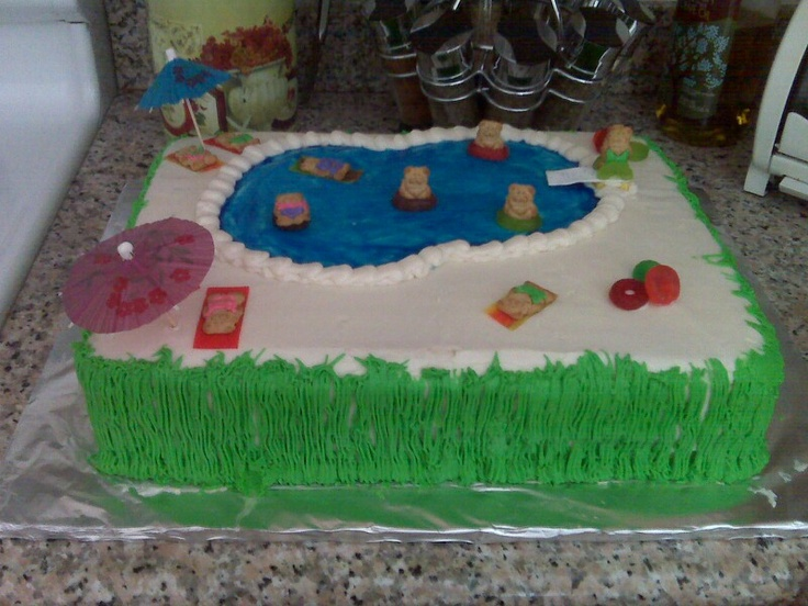 The 25+ Best Ideas About Swim Cake On Pinterest | Swimming Cake