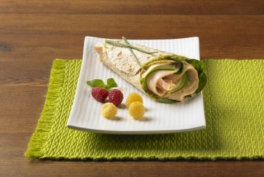 Green Goddess Turkey Wrap | #turkey #wrap #lunchrecipe | http://www.jennieo.com/recipes/455-Green-Goddess-Wrap