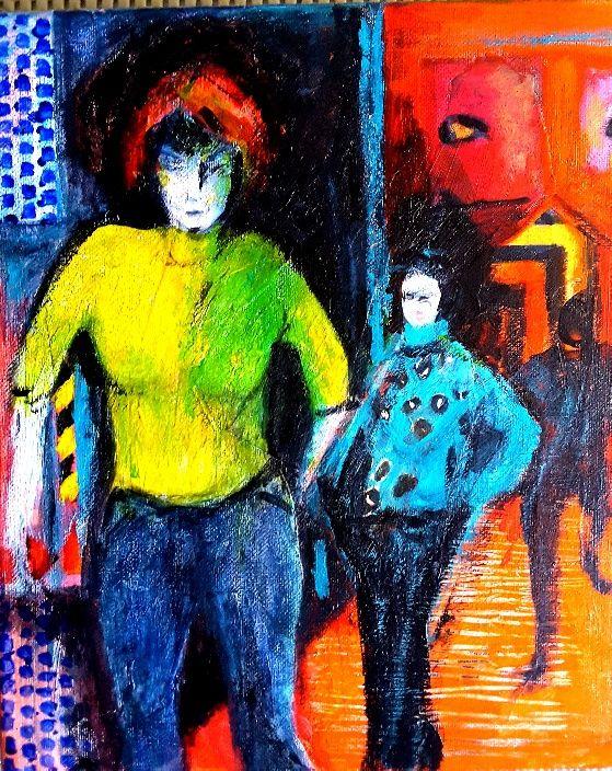 """Lynne Mettam, """"Closing Time"""", Acrylic on Canvas, $130"""