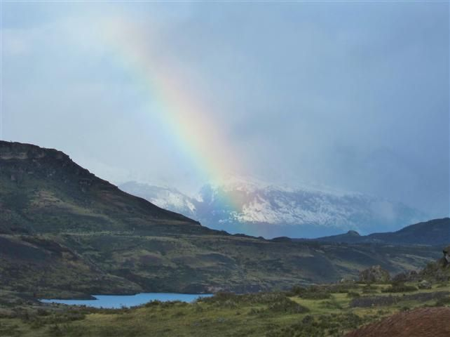 Rainbow in the Andes