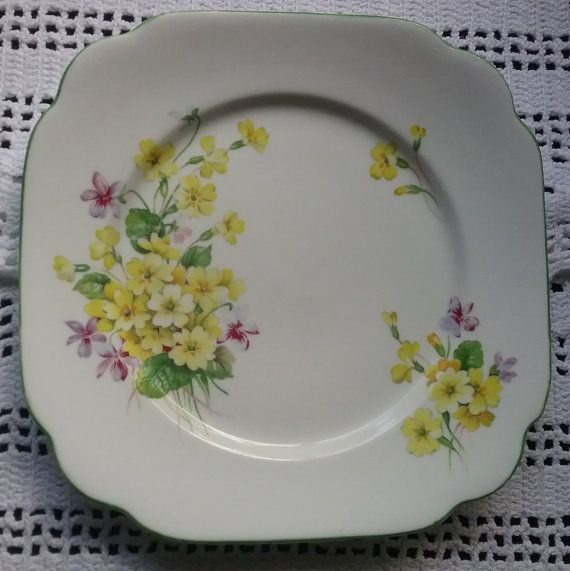 Royal Albert Primulette Primulette Bread Plate Royal Albert