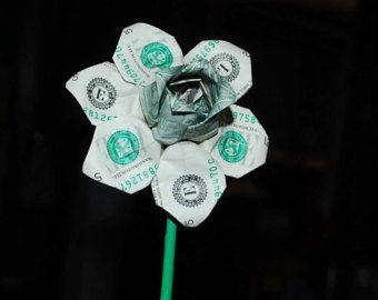 Daffodil - money origami daffodil - money flower - orgami daffodil - daffodil flower - paper daffodil - gift for her - flower decoration