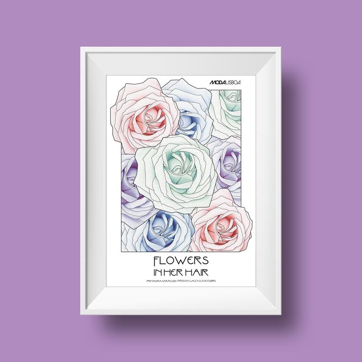FLOWERS IN HER HAIR | POSTER on Behance