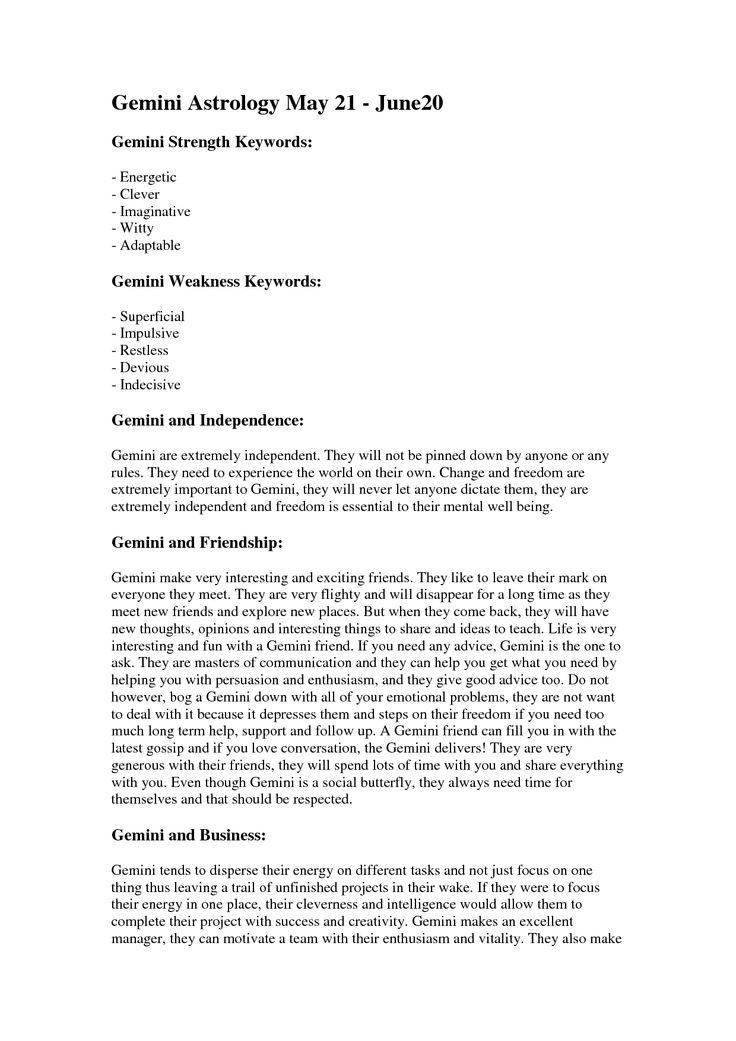Best 25 Gemini Characteristics Ideas On Pinterest