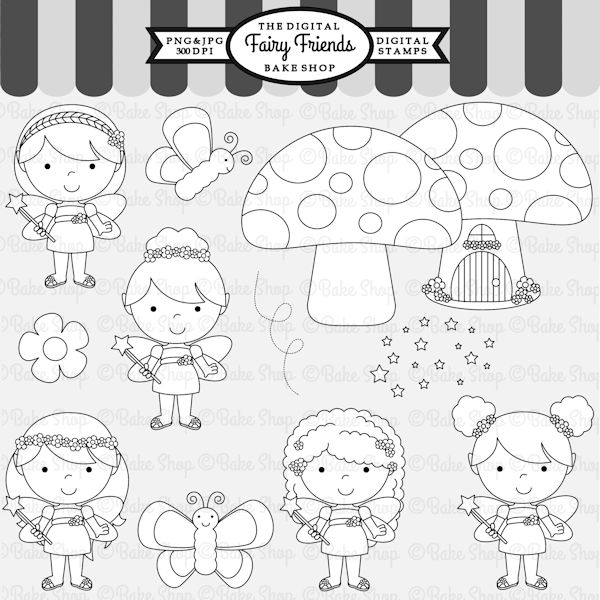 Fairy Friends Stamps - adorable fairies for your next craft project.