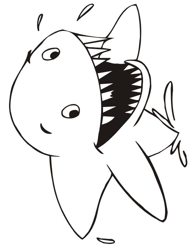 do not appear when printed only the shark coloring page will print - Coloring Pages Sharks Print