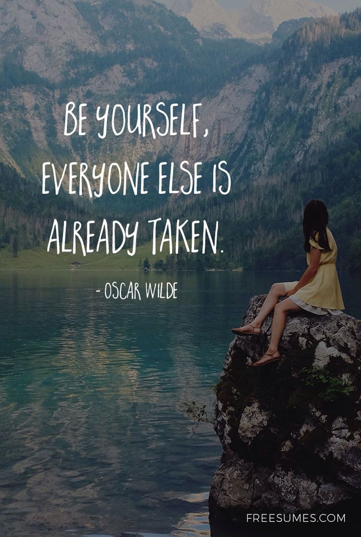 Be yourself, everyone else is already taken. - Oscar Wilde #motivational #career #quotes