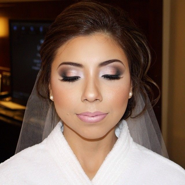 bridal makeup on point