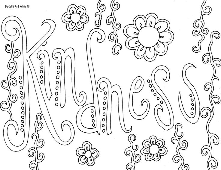 Kindness Coloring Sheets Www.robertdee.org