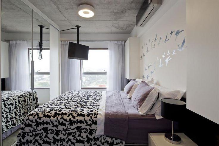 dormitório iluminado