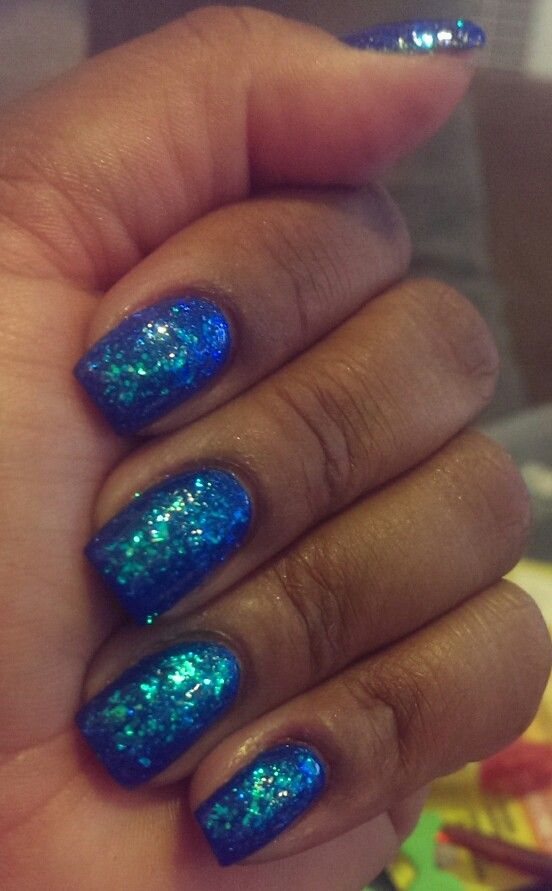 Sinful Colors Green Ocean on top of Sinful Colors Blue By You Sparkly!!!