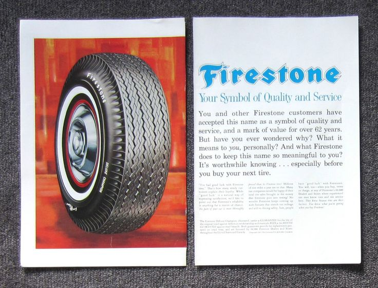 FIRESTONE TYRES CHRYSLER IMPERIAL 1960's Auto Magazine Page Sales Advertisement