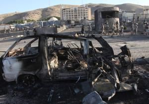 KABUL, Afghanistan — Taliban militants staged a suicide car bombing and then engaged in a gunfight with security forces outside the American consulate in the western Afghan city of Herat early Friday.
