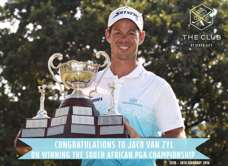 Congratulations Jaco Van Zyl on winning the South African PGA Championship 2016!