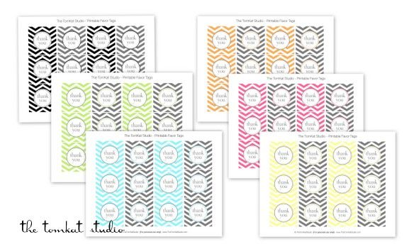 Chevron free printables.... thank you tags and invites