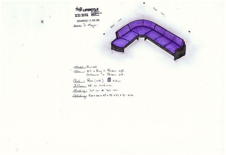 Tekening gemaakt voor een klant! Model: Koraal maatwerk