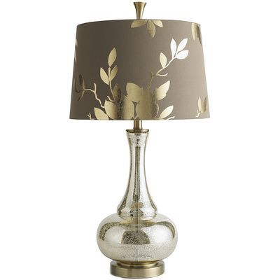 From pier1 com · 125 00 gold leaf glass lamp