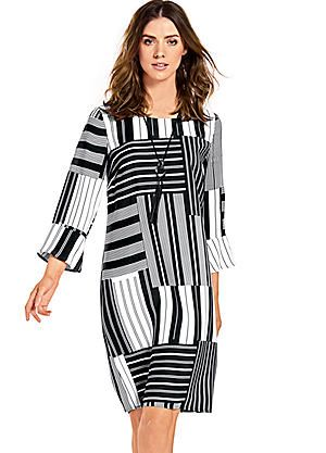 Best Connections Print Dress #kaleidoscope #monochrome