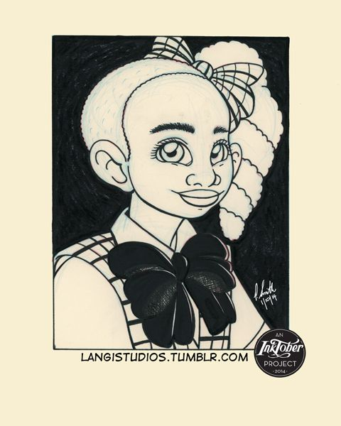 Inktober 2014 - Theme: School Picture Day.