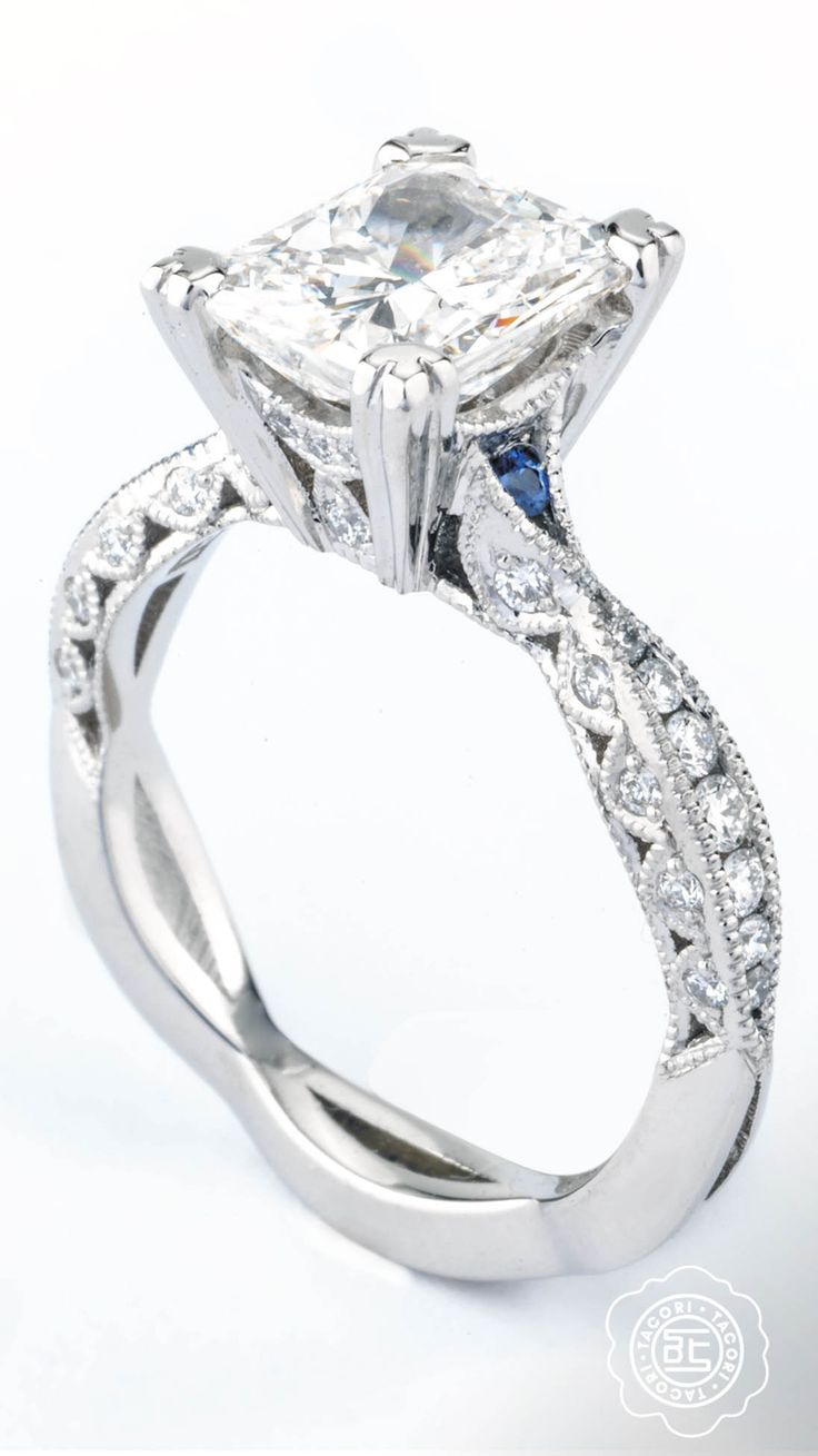 Spotlight Sapphires On This Classic Tacori Engagement Ring From The Classic  Crescent Collection