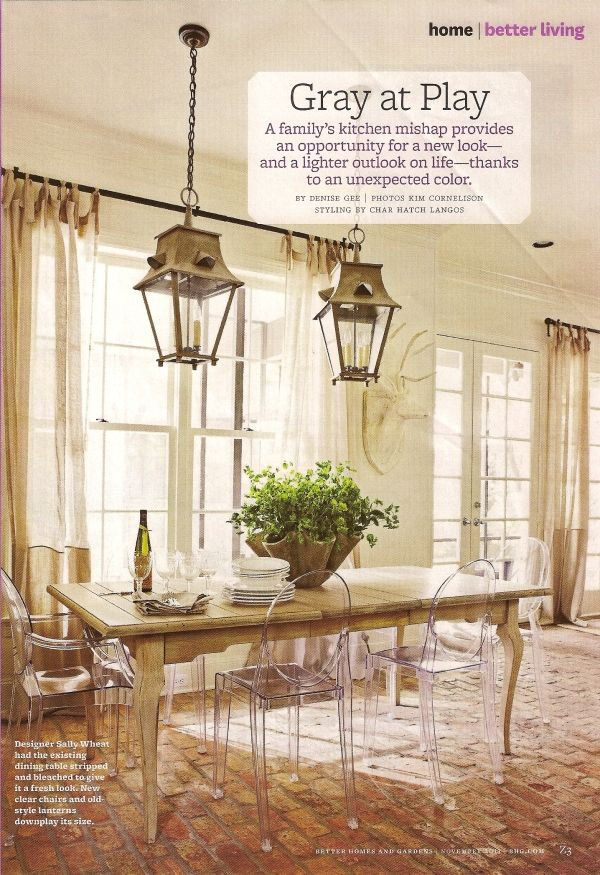 Sally wheat interiorsbetter homes and gardens dining areadining