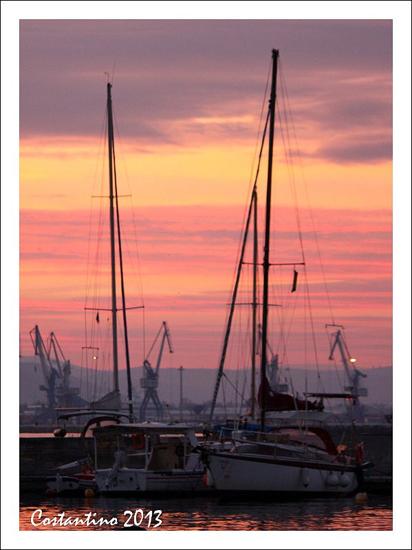 Sailing and sunset - Volos, Greece