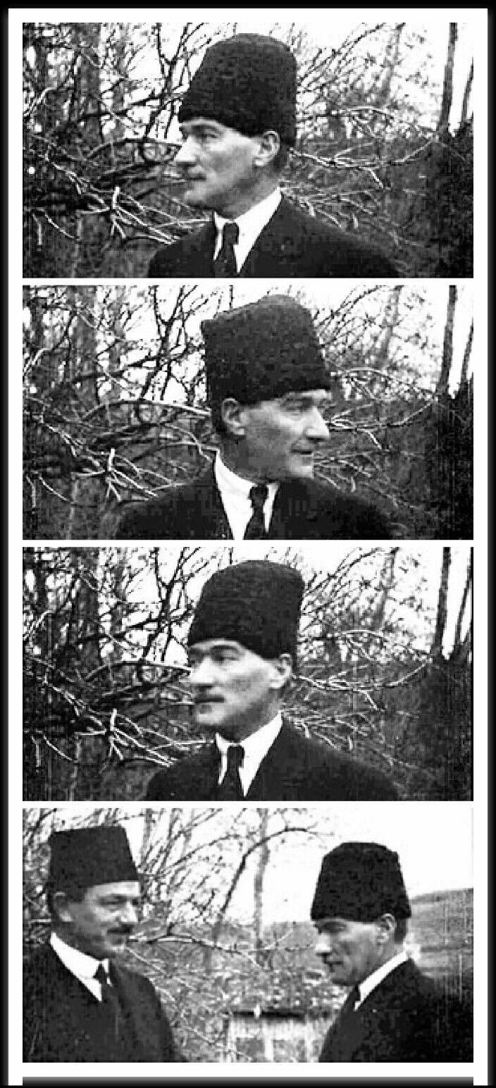 Mustafa Kemal Paşa'mı gördüm, Çankaya Köşkü'nün bahçesinde, ağaçlık bir köşede, keyifle gülümsüyordu. Yanında Rauf Bey... Hiç görmediğim bir görüntüsüydü.