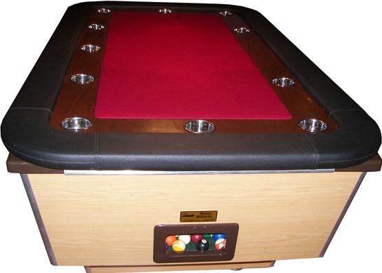 Poker top for pool table basement bar pinterest pool for Pottery barn poker table