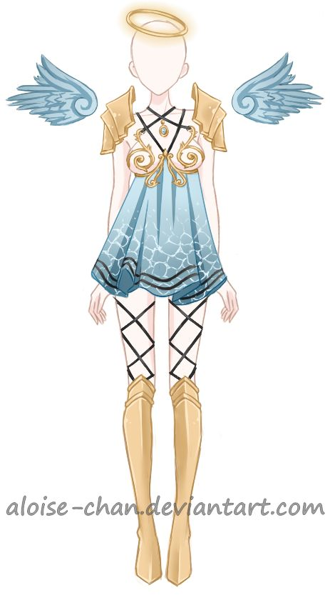 [OPEN] Water Goddess Armour Adoptable by Aloise-chan.deviantart.com on @DeviantArt