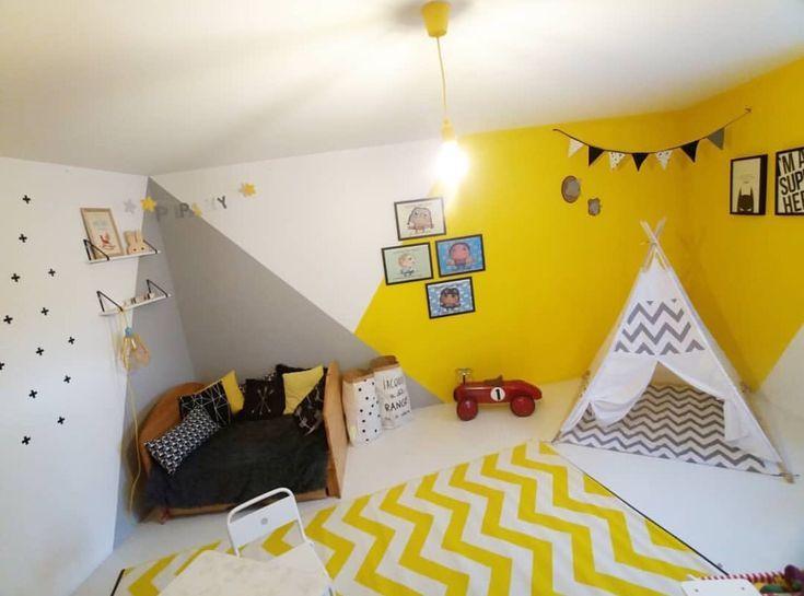 Jouez Avec La Peinture Pour Un Rendu Original De La Chambre De Votre Enfant  ! #