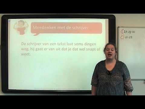 ▶ Begrijpend Lezen: meedenken met de schrijver - YouTube